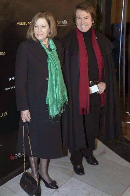 Raphael y natalia en el concierto de Miguel Poveda