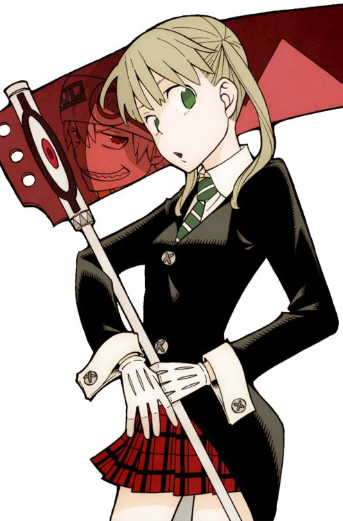 Maka Albarn. Soul Eater Evans. Pretty sure I'm going out for Halloween as Maka, but I need someone to be my Soul :3