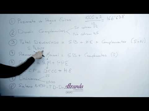 Como calcular nóminas - YouTube