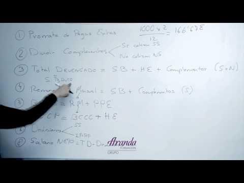 Como calcular nóminas - YouTube