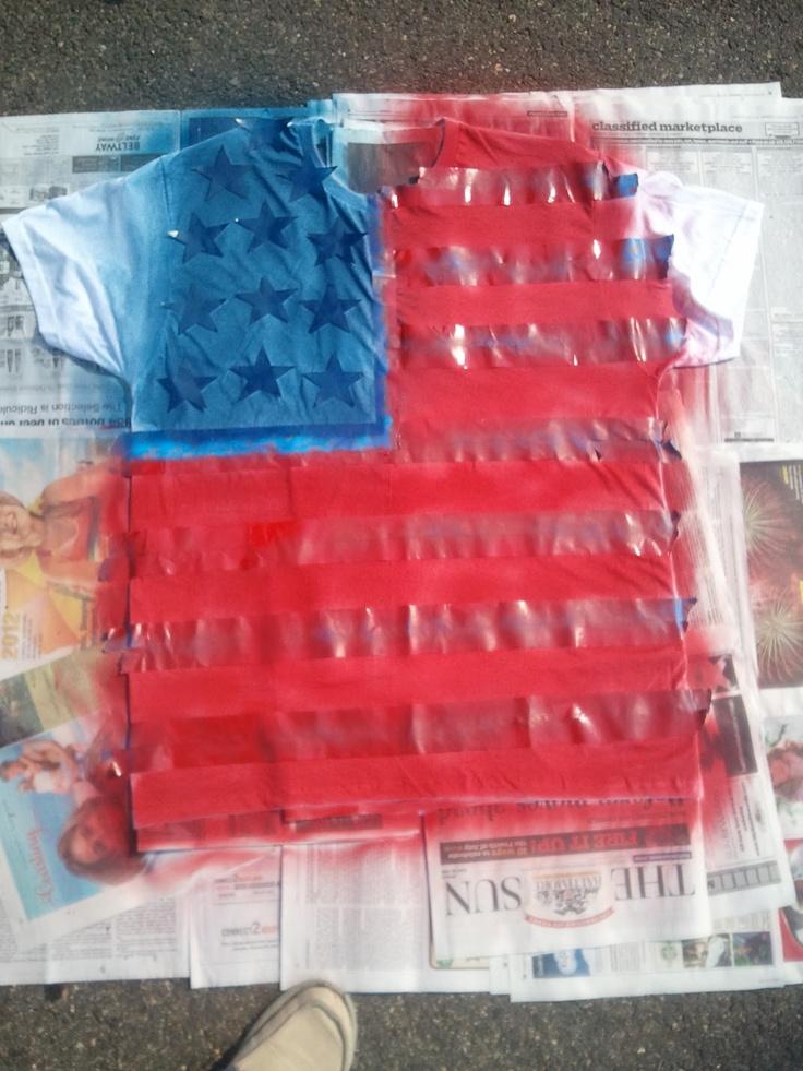 Hiya Heidi: DIY Flag Shirt I like this without all the cutting