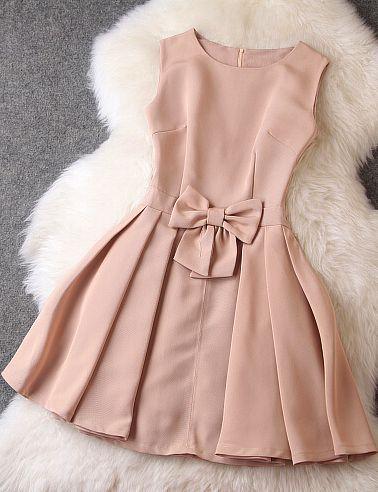 Bow sleeveless dress