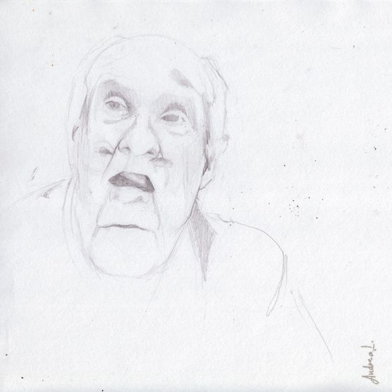 """Badiou - 2010. From the series: """"philosophical discourses"""" by Andrea Lucio"""