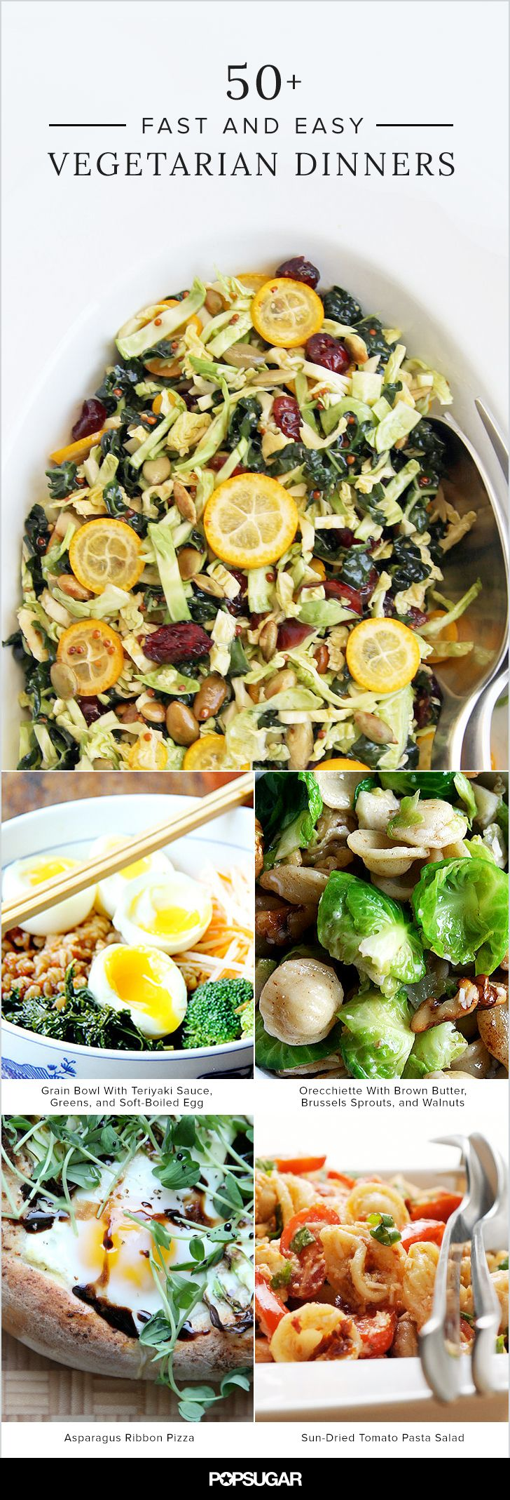 Two things that sometimes don't mix: weeknights and cooking. But with the right recipes, it's possible to have a satisfying and delicious vegetarian meal in no time. From pasta and stir-fry to salads and soup, these speedy dishes will actually have you looking forward to cooking dinner instead of dreading it.