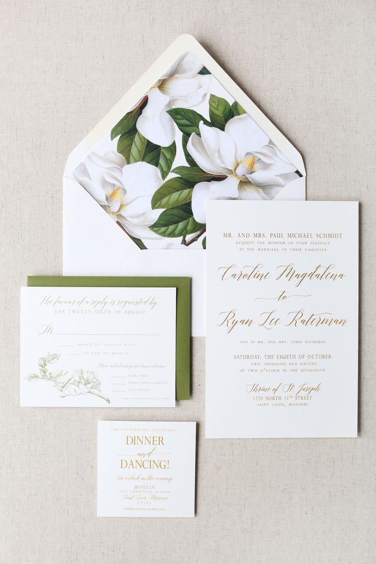 watch wedding invitation movie online eng sub%0A Magnolia Wedding Invitation   Wedding Monogram   Magnolia Monogram    Magnolia Envelope Liner   Gold and
