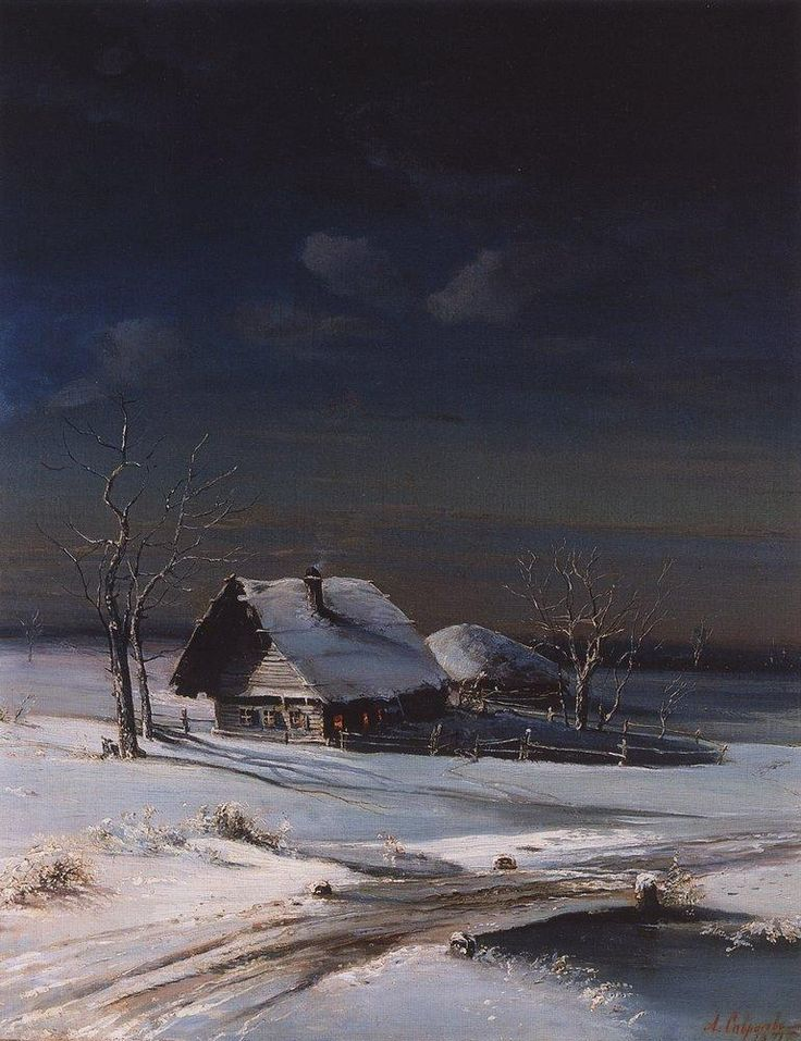 Alexei Savrasov - Winter Landscape (oil on canvas, 1871)