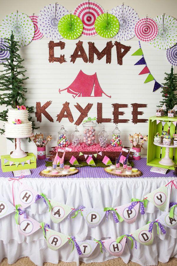 Camping/sleepover birthday party!!!!! I love love love this idea!!!