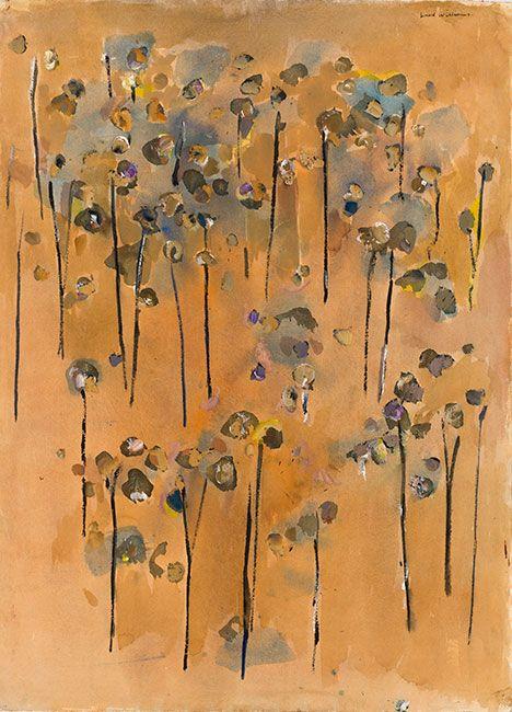You Yangs Saplings Jan 1965 by Fred Williams at Olsen Irwin Gallery