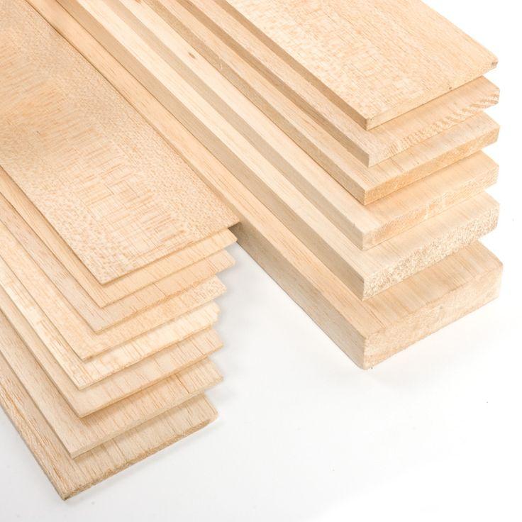MADERA DE BALSA - La madera de balsa es la madera más ligera que se conoce. Uno de los materiales preferidos para la construcción de modelos y maquetas.