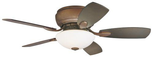 Casa Habitat™ Oil-Rubbed Bronze Hugger Ceiling Fan
