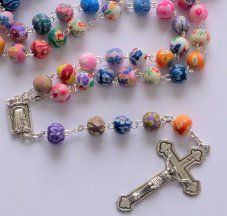 Modern Multicolor Rosary Beads.