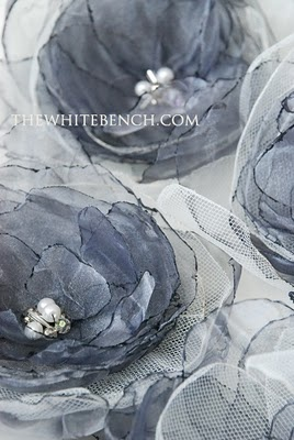 organza tulle flowers how to