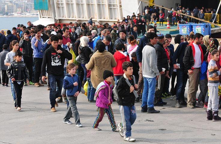 Greek authorities scrambled to send the refugees from the island to camps on the mainland ...