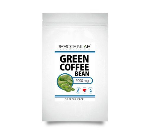 Green Coffee Bean Extract Pure 100% original 30 Capsules 5000mg – UK Made GMP Certified – Diet Pills – Sealed Refill Pack – by The Protein Lab, Weight Management, Super Strength - http://vitamins-minerals-supplements.co.uk/product/green-coffee-bean-extract-pure-100-original-30-capsules-5000mg-uk-made-gmp-certified-diet-pills-sealed-refill-pack-by-the-protein-lab-weight-management-super-strength/