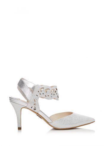 Moda In Pelle Carmani White Metallic Shoe Bridal Shoes Wedding Day Trending Sandals Heels Pinterest Catwalk Footwear And