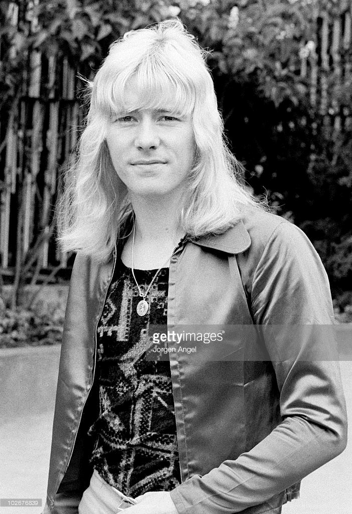 Brian Connolly of The Sweet poses for a portrait in Tivoli Gardens in May 1972 in Copenhagen, Denmark.