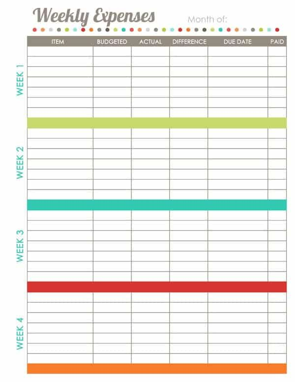 17 Brilliant And Free Monthly Budget Template Printable You Need