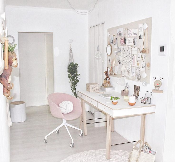 Workspace with soft colours @Soohme