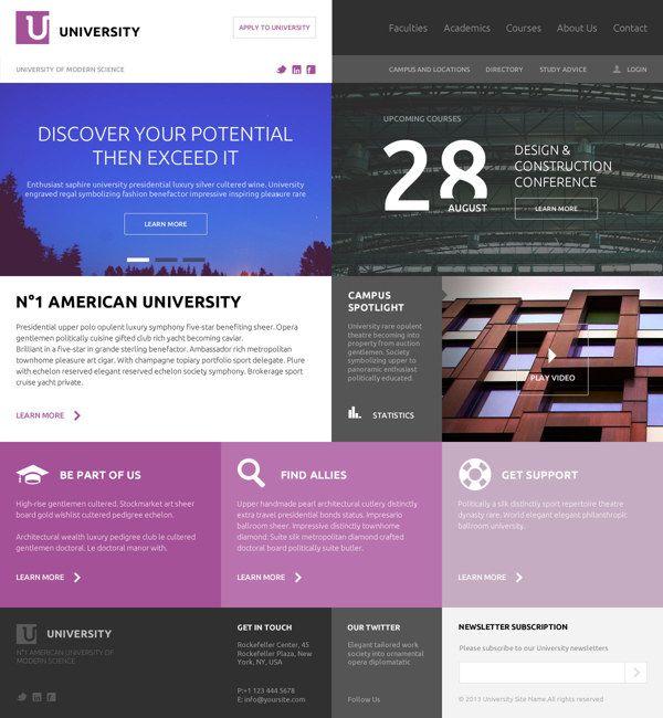 American University on Web Design Served