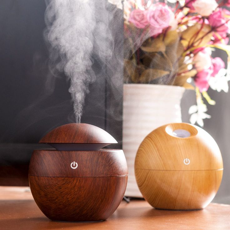 Mini Portable Essential Oil Diffuser Mist Maker Ultrasonic Aroma Humidifier Wooden Aromatherapy USB Diffuser Air Home Appliances