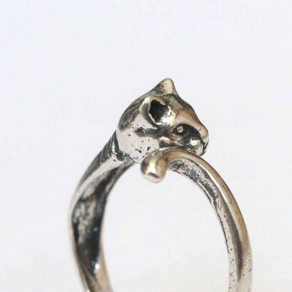 Kitty Cat Ring In Solid Sterling Silver by mrd74 on Etsy, $39.00    I don't like cats, but sophia would love this ring.