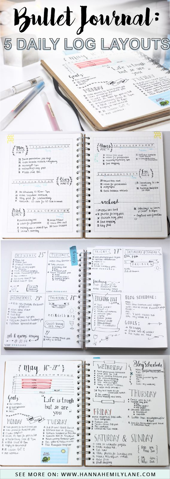 Change up your bullet journal pages with this daily log layout inspiration | www.hannahemilylane.com
