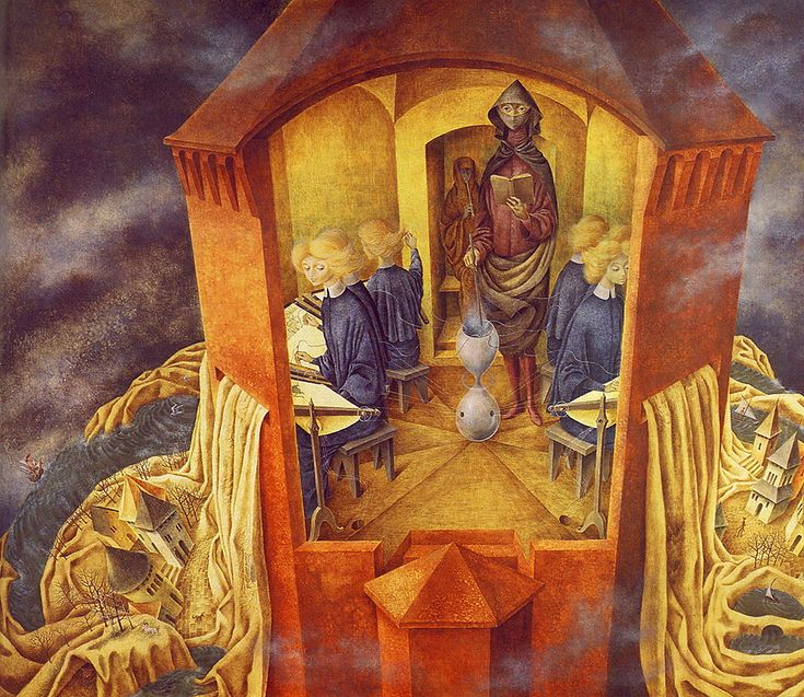 Remedios Varo - Embroidering the Earth's Mantle, 1961.