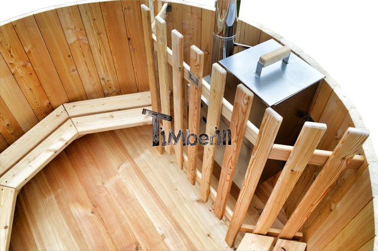 Wooden hot tub basic model. Siberian spruce, larch with snorkel or external heater