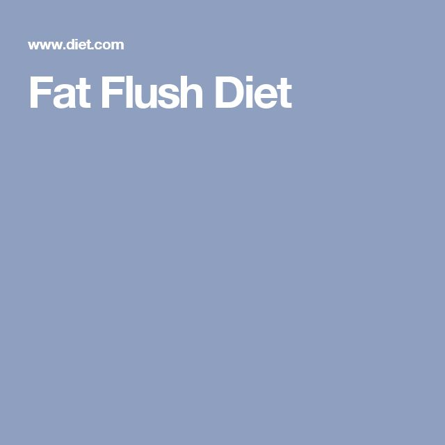 Fat Flush Diet