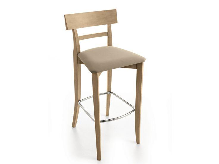 Sedia alta imbottita con poggiapiedi MAESTRALE | Sedia con poggiapiedi - Scandola Mobili