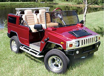 Crystal.......Joshua would like to upgrade his golf cart to this Hummer Golf Cart.
