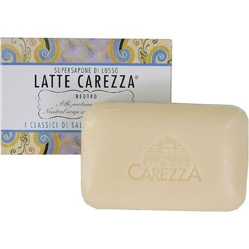 Latte Carezza - Milk Caress Soap Bar Salsomaggiore Terme by Salsomaggiore Terme. $6.75. Made at a famous Italian Spa. A milk caress for your skin. All natural. Imported from Italy. Gentle and soothing. Super Sapone de Lusso Latte Carezza, the milk carezza is a specialty of the famous Salsomaggiore Terme. A neutral soap, rich with lecithin and parma milk made by the Pignacca Family since the late 1800s. Go back in time. It is incredibly refreshing for your skin. 4 oz bar
