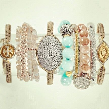<3<3: Wrist Candies, Southern Charms, Bracelets, Jewelry Accessories, Tory Burch, Bangles, Arm Candies, Arm Parties, Bling Bling