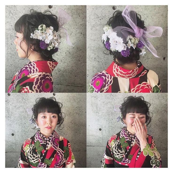* * 黒髪だけど 柔らかく♡ * * #ヘアアレンジ #卒業式ヘア #浜松市 #マリhair