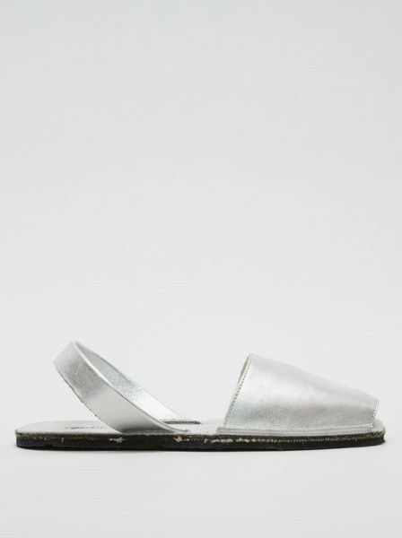 Riudavets - Avarca - Sandals - Silver - Spanish Style - Leather $129.90