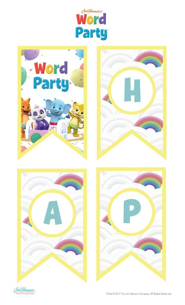 word party birthday party printables 2nd bday pinterest