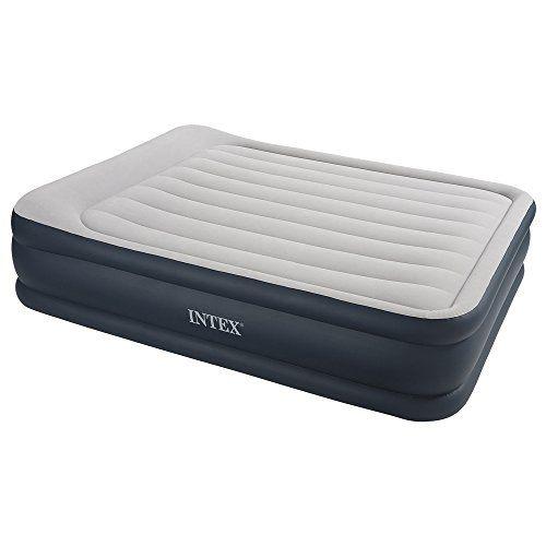 Intex – 67738 – Ameublement et Décoration – Lit Gonflable – 2 Places Larges – Rest Bed Gonfleur Intègre – 220 volts – 203 x 152 x 43 cm