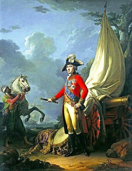 Портрет князя Платона Александровича Зубова 1802