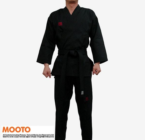 (48.44$)  Buy here - http://aiaop.worlditems.win/all/product.php?id=32665613260 - Black taekwondo uniform taekwondo dobok wtf mooto taekwondo clothes mooto dobok uniform belt dobok taekwondo mooto free shipping