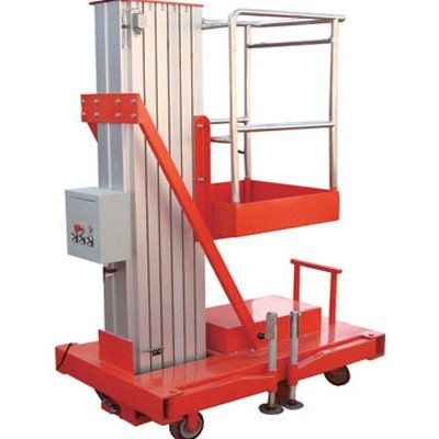 Aluminium lift is mainly used to lift workers to higher places for It is characterized by manual move, portability and easy to work. Lift power: AC(110V, 220V, 380V, 415V), DC or diesel available. Both ground and platform can control the lift by hydraulic cylinder, easily operated. http://www.mornlift.com/trailing-lift/trailing-aluminum-lift.html