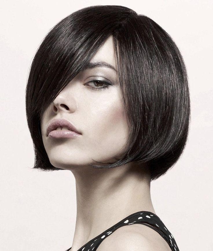 Причёска с НАКЛАДКОЙ восьмёркой - mini, стрижка каре, тёмно-коричневый 3.0, прямые волосы  www.aleksandr-and-olga.ru www.livemaster.ru/hair-collection