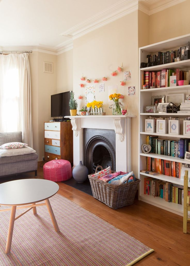 living room, home, interior, alcove shelving, bookcase, fireplace, colour