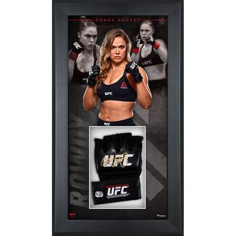Ronda Rousey Ultimate Fighting Championship Framed Autographed Fight Model Glove Shadowbox