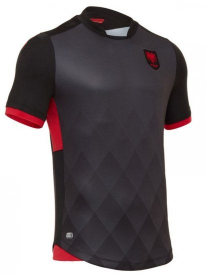 albania national team 2017 18 third black soccer shirt jersey