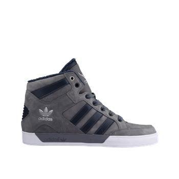 adidas Originals Hard Court Hi Big Logo - Men's - Sport Inspired - Shoes -  Medium Grey Heather/Black/Aluminum | s h o e s | Pinterest | Heather black,  ...