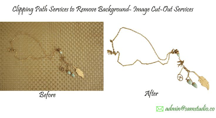 Clipping Path Services/Image Cut-Out Services-Clipping path is a closed vector path/ shape generally drawn using Photoshop pen tool to cut out images from backgrounds. Clipping path services to remove backgrounds