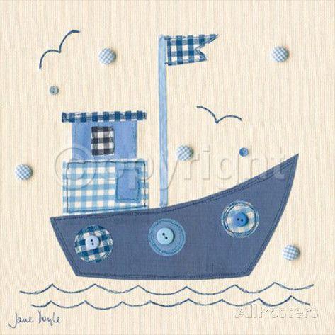 Patchwork Boat Pósters por Jane Doyle en AllPosters.es