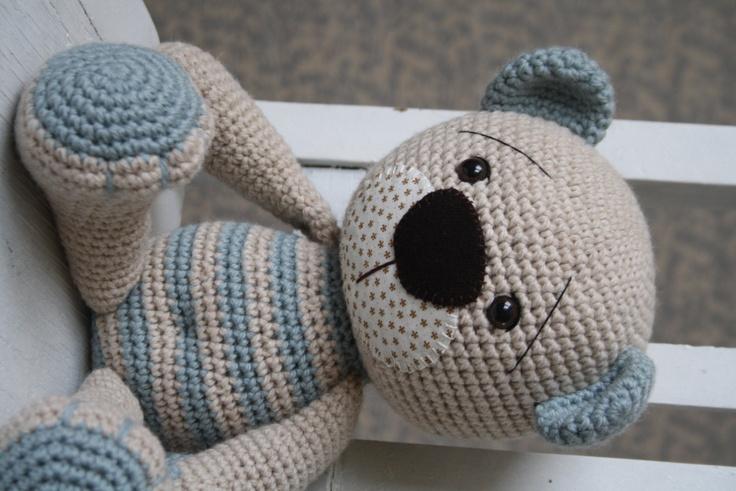 PATTERN Tummy Teddy crochet amigurumi bear by lilleliis