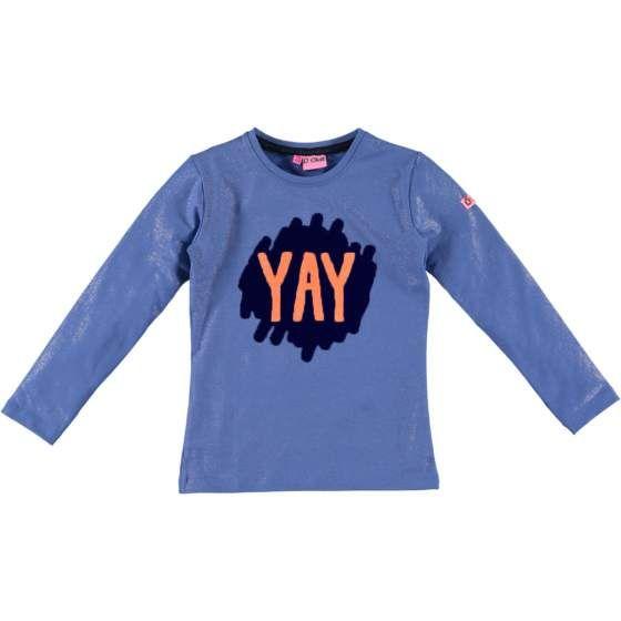 "O'CHILL ""Cato"" lichtblauwe longsleeve t-shirt met print ""Yay"""