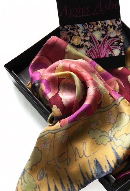 Agnes-Ashe-hand-painted-silk-scarf-Hilda-ruby-box copy